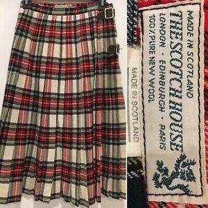 VTG Midi plaid skirt